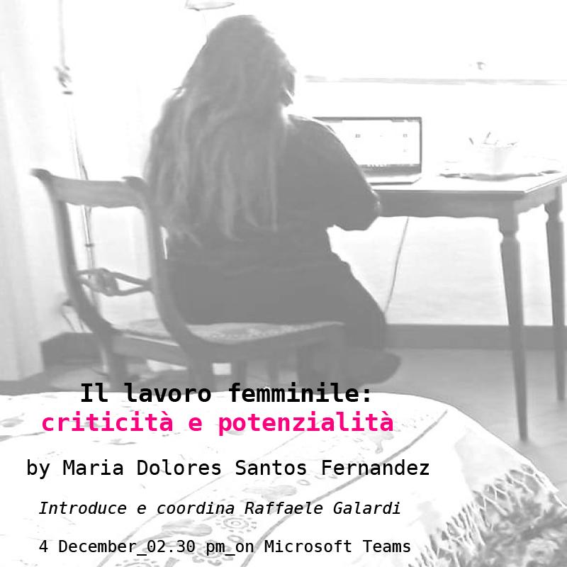 Il lavoro femminile: criticità e potenzialità – 4 dicembre 2020