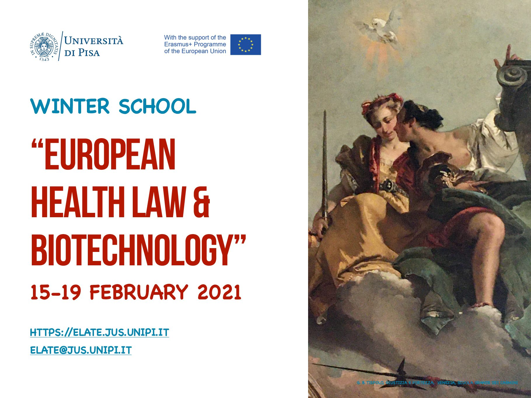 "Winter School ""European health law & biotechnology"" 15-19 February 2021"